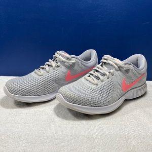 Nike Revolution 4 Ladies Trainers Gray size 6